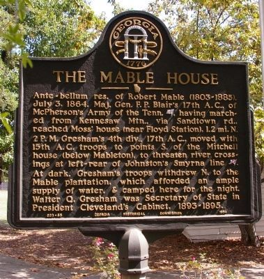 The Mable House Marker image. Click for full size.
