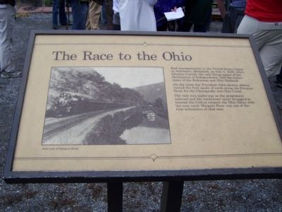 The Race to the Ohio Marker image. Click for full size.