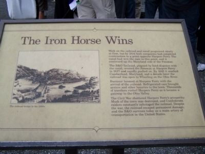 The Iron Horse Wins Marker image. Click for full size.