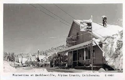 Vintage Postcard - Wintertime at Markleeville, Alpine County, Ca image. Click for full size.