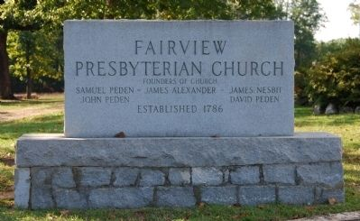 Fairview Presbyterian Church Sign image. Click for full size.