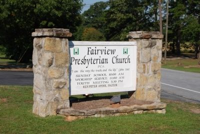 Fairview Church Sign image. Click for full size.