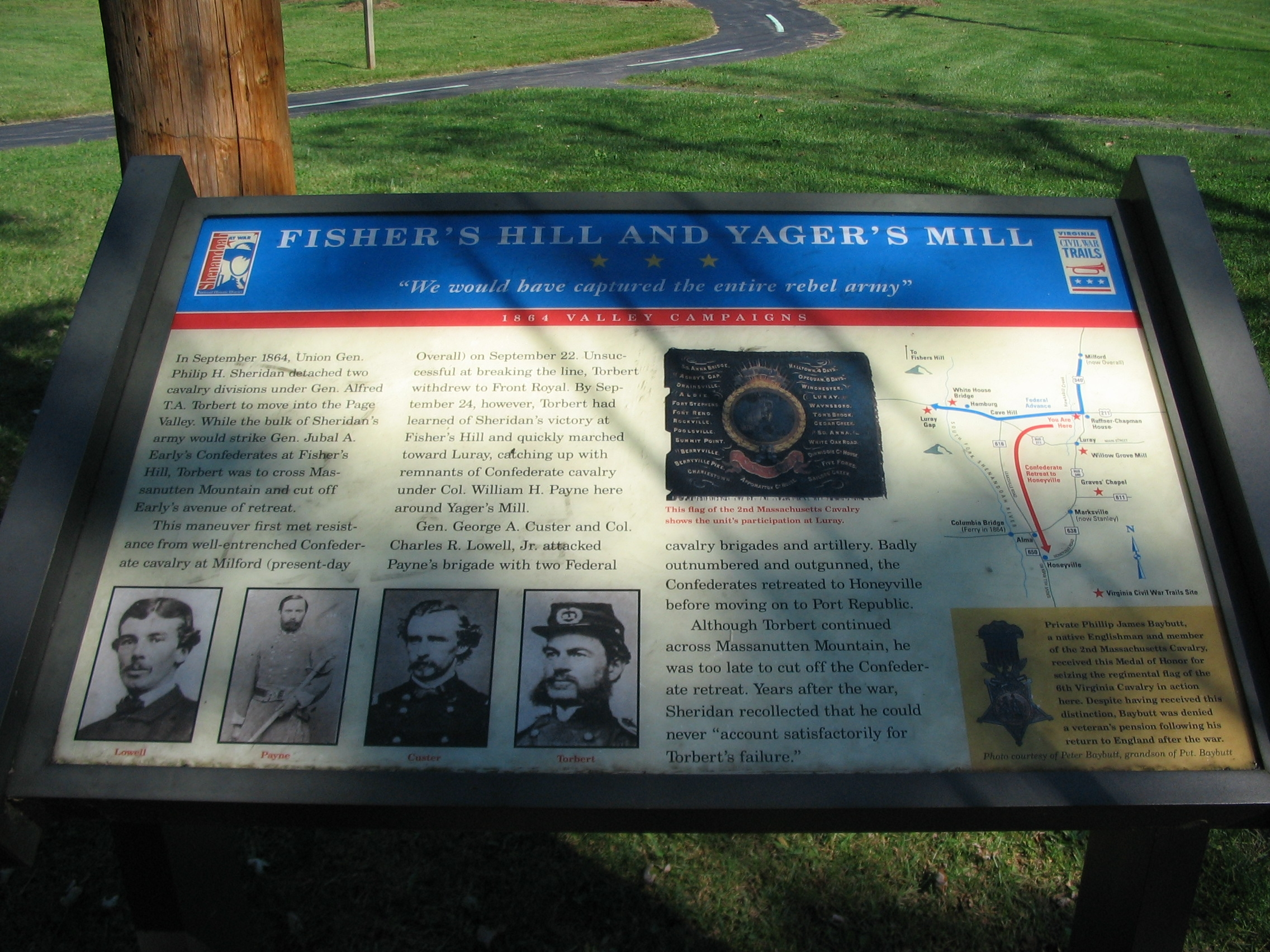 Fisher's Hill and Yager's Mill Marker