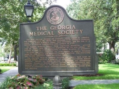 Georgia Medical Society Marker image. Click for full size.