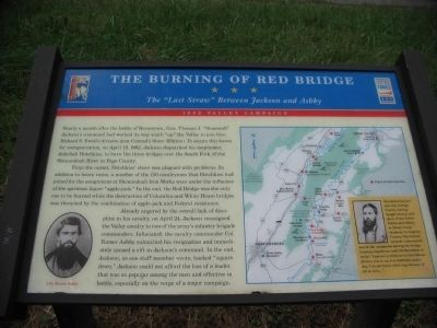 The Burning of Red Bridge Marker image. Click for full size.