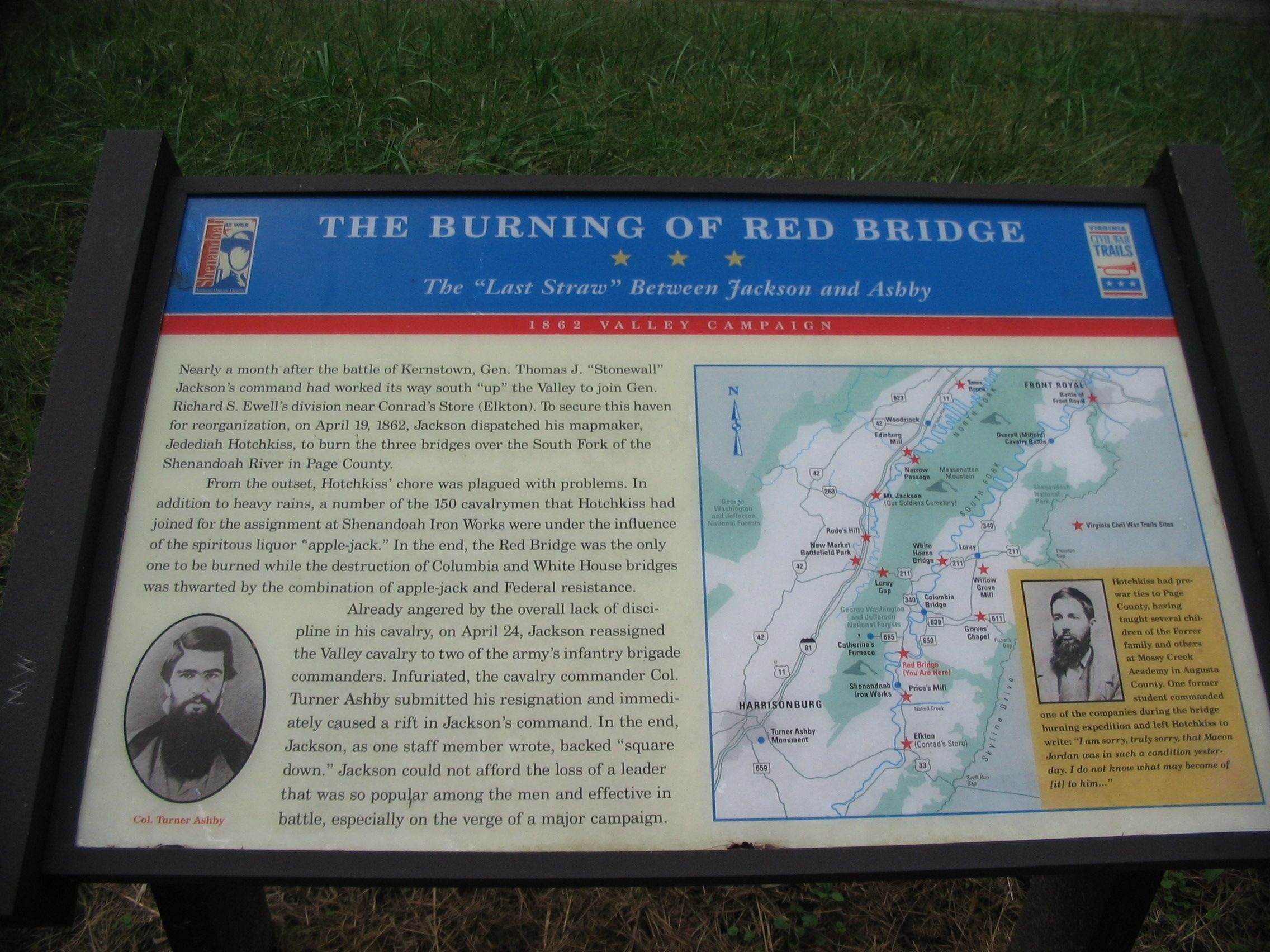 The Burning of Red Bridge Marker