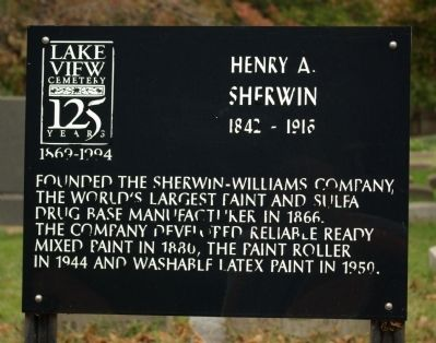 Henry A. Sherwin Marker image. Click for full size.