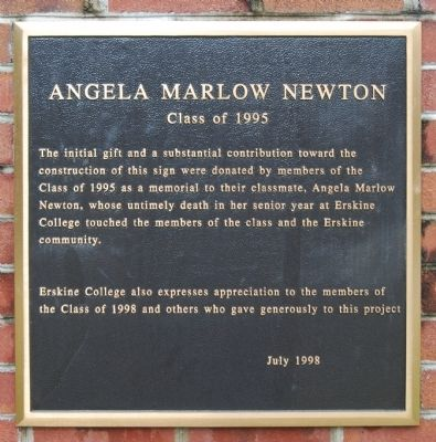 Angela Marlow Newton Marker image. Click for full size.