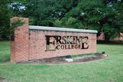 Erskine College Sign image. Click for full size.