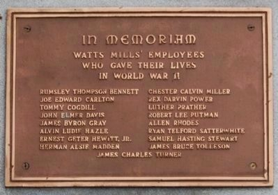 In Memoriam Marker - Top Plaque image. Click for full size.