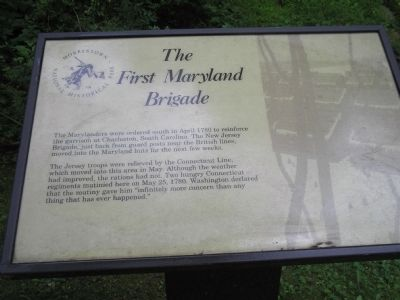 The First Maryland Brigade Marker image. Click for full size.