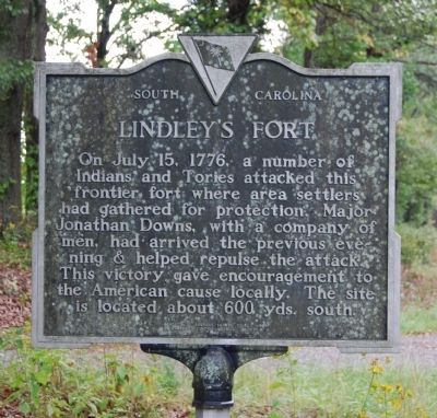 Lindley's Fort Marker image. Click for full size.