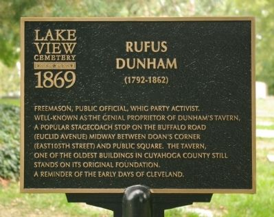 Rufus Dunham Marker image. Click for full size.