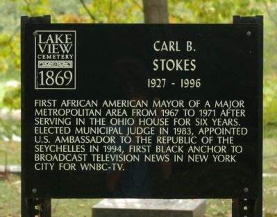 Carl B. Stokes Marker image. Click for full size.