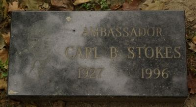 Carl B. Stokes grave marker image. Click for full size.