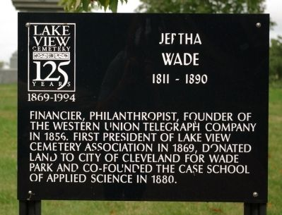 Jeptha Wade Marker image. Click for full size.