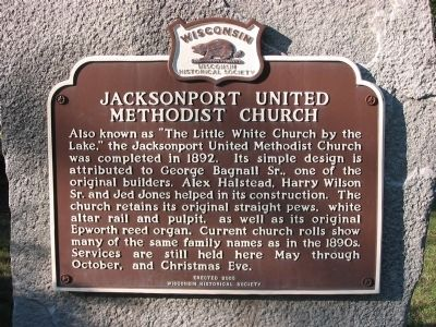 Jacksonport United Methodist Church Marker image. Click for full size.