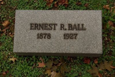 Ernest R. Ball grave marker image. Click for full size.