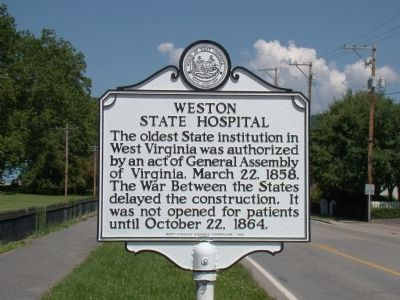 Weston State Hospital Marker image. Click for full size.
