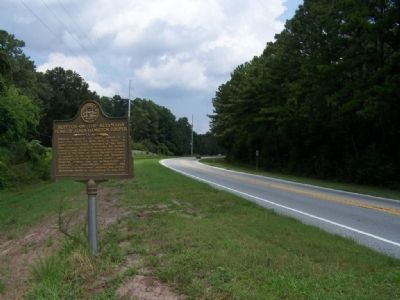 Hopeton-on-the-Altamaha Marker looking north on US 17 image. Click for full size.