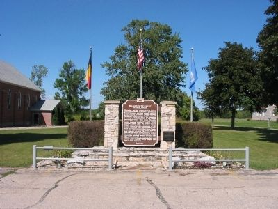 Belgian Settlement in Wisconsin Marker image. Click for full size.