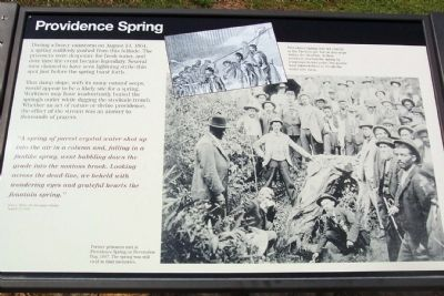 Providence Spring Marker image. Click for full size.
