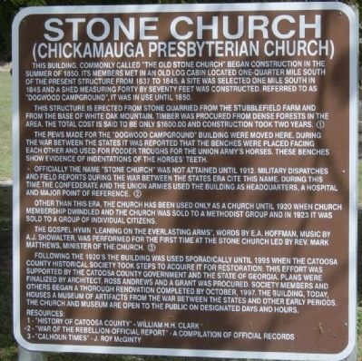 Stone Church Marker image. Click for full size.