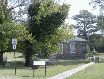 Stone Church and Catoosa Station Markers image. Click for full size.