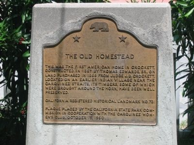 The Old Homestead Marker image. Click for full size.
