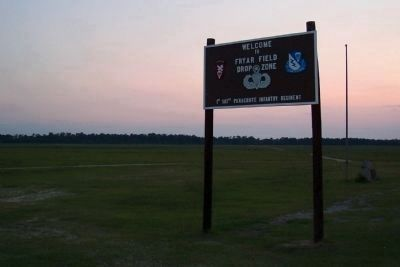 Fryar Field Drop Zone and Marker image. Click for full size.