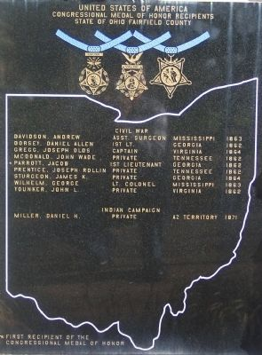 Fairfield County, Ohio, Medal of Honor Recipients Marker image. Click for full size.
