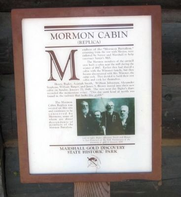 Mormon Cabin Marker image. Click for full size.