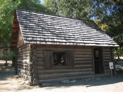 Mormon Cabin and Marker image. Click for full size.