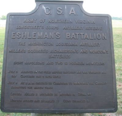 Eshleman's Battalion Tablet image. Click for full size.
