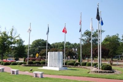 Simpsonville Veterans Memorial Marker image. Click for full size.