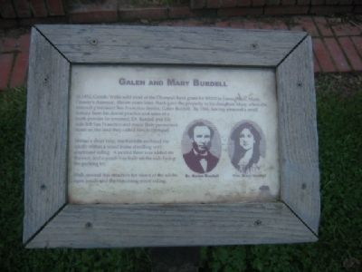 Galen and Mary Burdell Marker image. Click for full size.