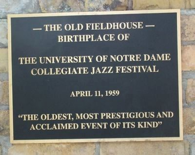 Collegiate Jazz Festival Marker image. Click for full size.