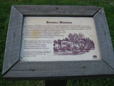 Burdell Mansion Marker image. Click for full size.
