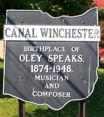 Former Canal Winchester Corporate Limit Marker image. Click for full size.