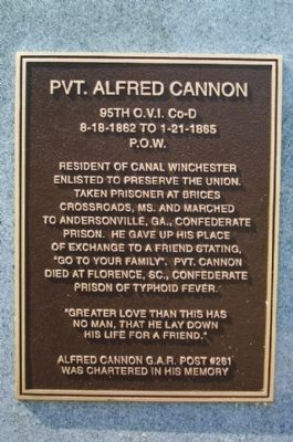 Private Alfred Cannon Marker image. Click for full size.