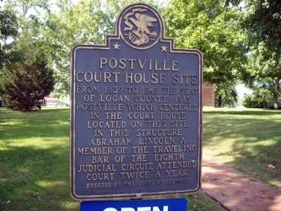 Postville Court House Site Marker image. Click for full size.