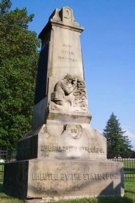55th Ohio Infantry Monument image. Click for full size.