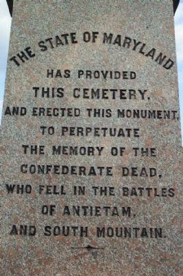 Washington Confederate Cemetery Monument - Maryland image. Click for full size.