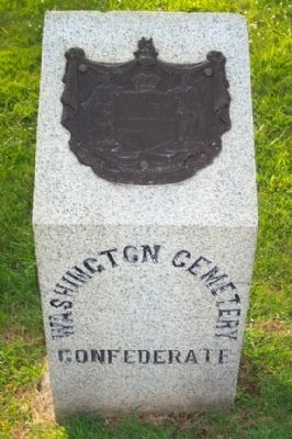 Washington Confederate Cemetery Boundary Marker image. Click for full size.