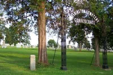 Washington Confederate Cemetery Gate image. Click for full size.