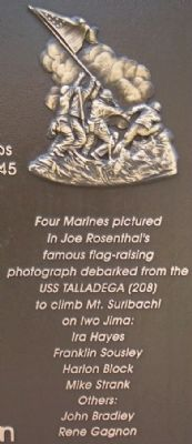 Marines on Mt. Suribachi image. Click for full size.