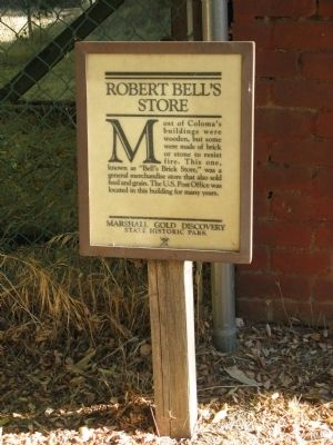 Robert Bell's Store Marker image. Click for full size.
