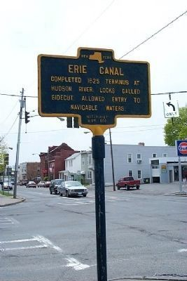 Erie Canal Marker at Second Ave. and Twenty-Third Street image. Click for full size.