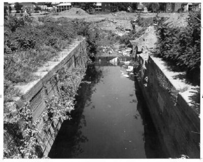 Remains of the West Troy Side Cut Locks image. Click for full size.