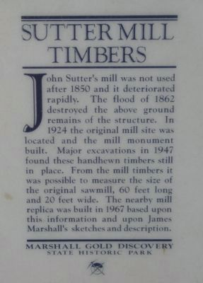Sutter Mill Timbers Marker image. Click for full size.